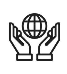 picto monde mains
